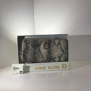 Anne Klein Wallet Clutch Zip Around